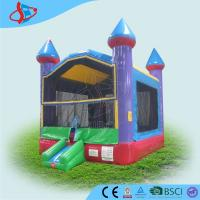 Colorful kids jumping Inflatable Bounce House Security for outside