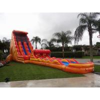 China 30 Feet Tall Orange Inflatable Adult Water Slide Cool Water Park Slide on sale