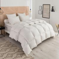 Wholesale 85% Goose Feather And 15% Goose Down Hotel Collection King Duvet Embroidered Logo from china suppliers