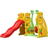 Wholesale Safety Plastic Baby Swing And Slide Set / Nontoxic KAIQI Recycled Plastic Playground from china suppliers