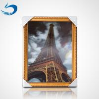 Wholesale Custom Printing 3D Lenticular Poster PET Image High Definition Eiffel Tower Poster from china suppliers
