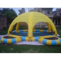 China Inflatable Water Pool With Tent / Inflatable Water Ball Pool For Party on sale