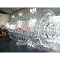 Wholesale Commercial Grade Transparent 0.8mm PVC Inflatable Water Roller Ball for swimming pool from china suppliers