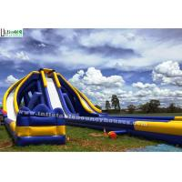 China Theme Park Huge Inflatable Water Slides For Adult , CE EN14960 EN71 Approval on sale