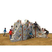 Wholesale Plastic Kids Climbing Wall 620 * 20 * 250 CM With Rounded Edge from china suppliers