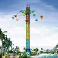 Wholesale 42m Amusement Park Sky Drop Ride / Drop Tower Ride With 9 Cabins from china suppliers