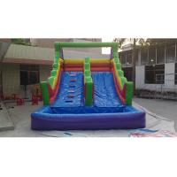 Wholesale Commercial PVC Vinyl Giant Inflatable Water Slide For Adult, Commercial Grade PVC Rainbow Inflatable Water Slide from china suppliers