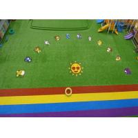 Wholesale Custom Natural Green Coloured Artificial Grass For Garden Playground from china suppliers