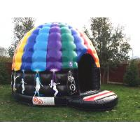 Wholesale Party theme rainbow colorful inflatable disco dancing music dome bouncy castle from china suppliers