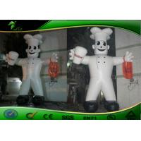 Wholesale Attractive PVC Tarpaulin Inflatable Cartoon Characters White Inflatable Chef Costume from china suppliers