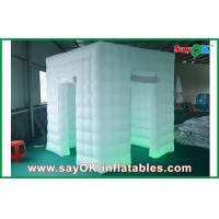 China 2 Doors Inflatable Photo Booth LED Light 2.4m Color Changed With Blower on sale