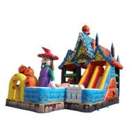 Halloween Witch Theme Kids Blow Up Bounce House With Customized Size