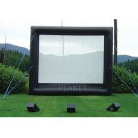 China Safety Inflatable Movie Screen Rental  / Inflatable TV Screen Reinforced Oxford Cloth on sale