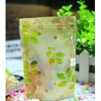 Wholesale Recycled 80 Micron Leaf Plastic Zipper Bags Resealable For Promotional from china suppliers