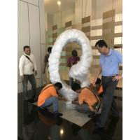 Wholesale Polished Surface Circle Shape Abstract Outdoor Sculpture For Malaysia Hotel Decoration from china suppliers