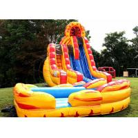 Wholesale Outdoor Giant Inflatable Slide Moonwalk Water Slide For Amusement Park from china suppliers