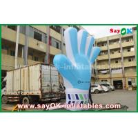 Wholesale Giant Oxford Custom Inflatable Products , 2m  tall  Inflatable Blue Hand Model for Events from china suppliers