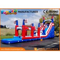 China Durable Commercial Inflatable Slide / Air Wet Jumping Giant Blow Up Bouncy Water Slide on sale