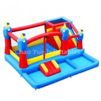 Wholesale Commercial Grade 0.55mm PVC Tarpaulin Inflatable Jumping Castle with Pool for kids from china suppliers