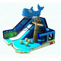 Wholesale inflatable dry slide 6×6Meter inflatable jumping slide  blue Marine themed inflatable slide 0.55PVC from china suppliers