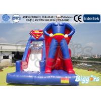 Wholesale Theme Inflatable Superman Bounce House Slide For Amusement Park Outdoor from china suppliers