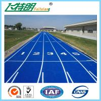 Colourful Sport Athletic Running Track Surface Material Full PU 13 MM