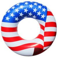 Buy cheap American Flag Inflatable Swimming Rings Pvc With EN71 Standard from wholesalers