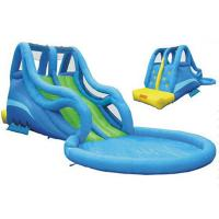 Wholesale Commercial Grade Double Lane Kids Water Slides , Wave Giant Inflatable Water Pool Slide from china suppliers