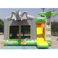 Outdoor commercial kids elephant inflatable bounce house with slide from Sino Inflatables