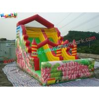 Wholesale Popular Full Printing Commercial Inflatable Water , Customized Inflatable Slide For Adults from china suppliers