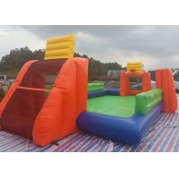 Wholesale Durable Inflated Fun Sports Games / Inflatable Soccer Field Water Pool With Basket Hoop from china suppliers