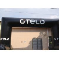 Quality Black Custom Inflatable Arch Oxford Cloth Material UV Protection for sale