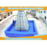Air Blowing Inflatable Rock Wall Indoor Climbing Wall Bouncer / Jumper With Fire Retardant Material