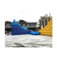 Wholesale Customized Size Inflatable Water Slides With Swimming Pool For Business Rent from china suppliers