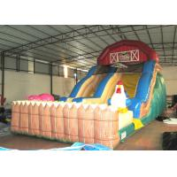 Wholesale Inflatable the farm themed standard dry slide top inflatable dry commercial slide for children under 15  years from china suppliers