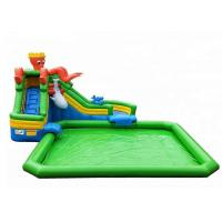 China Amusement Park Inflatable Water Slide And Pool Double Stitching Inside And Outside on sale