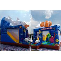 Wholesale Small Inflatable Bouncer House Combo With Slide For Underwater Sea / Home Backyard from china suppliers