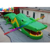 China Outdoor Crocodile Inflatables Obstacle Course Rentals / Custom Obstacle Game on sale
