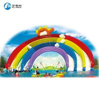 Anti UV No Fading Rainbow Water Slide With Frame Pool For Amusement Park