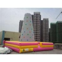 Wholesale Portable  0.55mm PVC outdoor Inflatable portable Climbing rock Wall with SGS from china suppliers