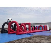 Wholesale Red Black Summer Inflatable Soccer Field Kids Inflatable Football Game from china suppliers
