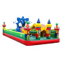 Quality 10-15 Children Play Inflatable Jumpers 0.55mm Tarpaulin Sewing Castle Bounce House for sale