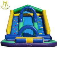 China Hansel  outdoor jumping castle giant inflatable pool slide for adult manufacturer on sale