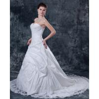 Quality Customized Thick White Strapless Wedding Gowns for Spring , Summer , Fall , for sale