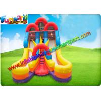 Wholesale Red Yellow Commercial Inflatable Slide , 16ft Double Inflatable Climbing Slide from china suppliers