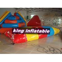 Red / Yellow / Blue 0.9mm PVC Inflatable Water Toys / Saturn Slide With Blob Ball