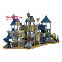 Wholesale EU Standard Childrens Outdoor Playsets , Sports Series Plastic Slide Set Amusing from china suppliers