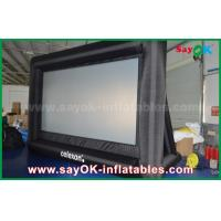 Wholesale PVC Custom White / Black Inflatable Projection Screen WIth Frame SGS Approval from china suppliers