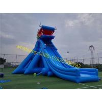 Giant inflatable dinosaur slip and slide