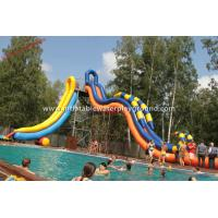 China Garden Inflatable Water Park Water Slide , Inflatable Whoosh Slide For Swimming Pool on sale